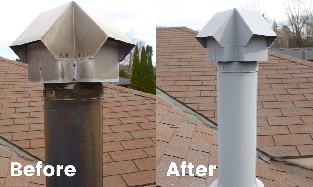 Maintenance completed to ensure the B-vent doesn't deteriorate due to wear and tear, and elements.